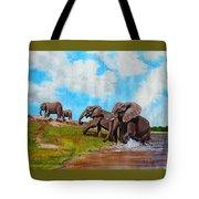 The Elephants Rise Tote Bag