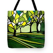 The Emerald Glass Forest Tote Bag