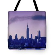 The Empire State Building In New York At 6 A. M. In January Tote Bag