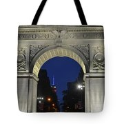 The Empire State Building Through The Washington Square Arch Tote Bag