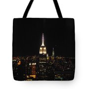 The Empire States At Night Tote Bag