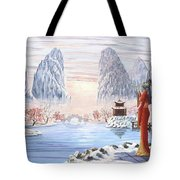 The Empress And The Unicorn Tote Bag
