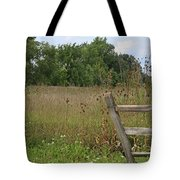 The End Of The Fence Tote Bag