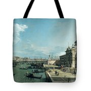 The Entrance To The Grand Canal And The Church Of Santa Maria Della Salute Tote Bag by Canaletto