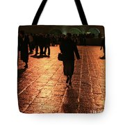 The Entrance To The Western Wall At Night Tote Bag