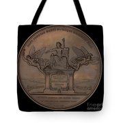 The Establishment Of The French Railway System: The Law Of 11 June 1842 [reverse] Tote Bag