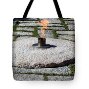 The Eternal Flame At President John F. Kennedy's Grave Tote Bag