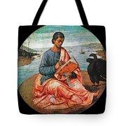 The Evangelist John At Patmos Tote Bag