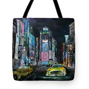 The Evening Of Time Square Tote Bag