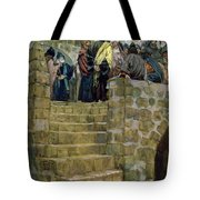 The Evil Counsel Of Caiaphas Tote Bag by Tissot