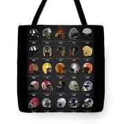 The Evolution Of The Nfl Helmet Tote Bag