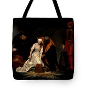 The Execution Of Lady Jane Grey In The Tower Of London In The Year 1554 Tote Bag