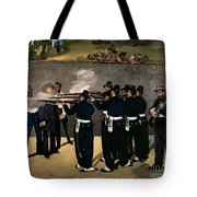 The Execution Of The Emperor Maximilian Tote Bag