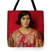 The Exile - Heavy Is The Price I Paid For Love Tote Bag by Thomas Cooper Gotch