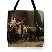 The Expulsion Or La Patricienne Romaine Expulsee Tote Bag