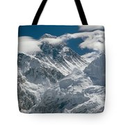 The Extreme Terrain Of Mount Everest Tote Bag