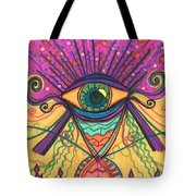 The Eye Opens... To A New Day Tote Bag by Daina White