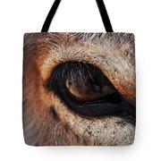 The Eye Of A Burro Tote Bag