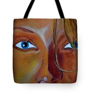 The Eyes Of The Muse Tote Bag