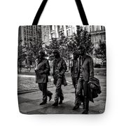 The Fab Four In Black And White Tote Bag