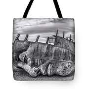 The Face Of The Bay Mono Tote Bag