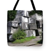 The Faces In The Stone Blocks Tote Bag