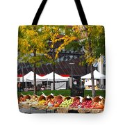 The Fall Harvest Is In Kendall Square Farmers Market Foliage Tote Bag