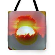 The Falling Sun  Tote Bag