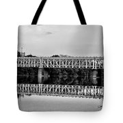The Falls Bridge From Kelly Drive Tote Bag