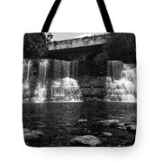 The Falls In Black And White Tote Bag