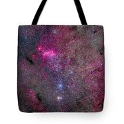 The False Comet Cluster Area Tote Bag