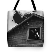 The Farm In Black And White Tote Bag