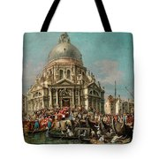 The Feast Of The Madonna Della Salute In Venice Tote Bag