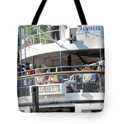 The Ferry Arrives Tote Bag