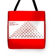The Fibonacci Numbers Catus 1 No. 3 H A Tote Bag