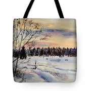 The Fields After Snow Tote Bag