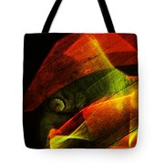 The Figure In Red Clothes Tote Bag