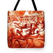 The Fire Dance Down Below Tote Bag