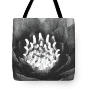 The Fire Inside - Water Lily 02 - Bw Tote Bag