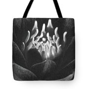 The Fire Inside - Water Lily - Bw Tote Bag