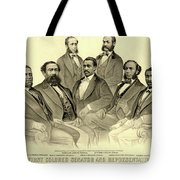 The First African American Senator And Representatives Tote Bag