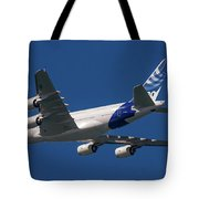 The First Airbus A380. Tote Bag