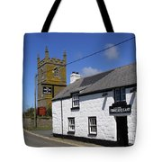 The First And Last Inn In England Tote Bag