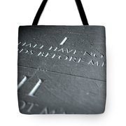 The First Commandment Tote Bag