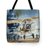 The First Deck Landing Tote Bag