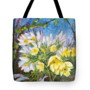 The First Flowers After Winter Tote Bag