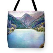 The First Frosty Morning At The Lake Tote Bag