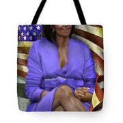The First Lady-american Pride Tote Bag by Reggie Duffie