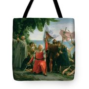 The First Landing Of Christopher Columbus Tote Bag