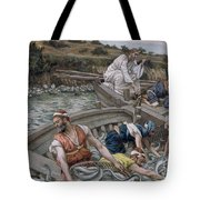 The First Miraculous Draught Of Fish Tote Bag